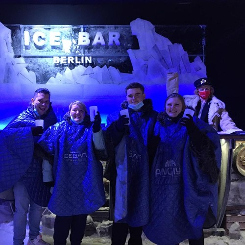 Cheers in the icebar